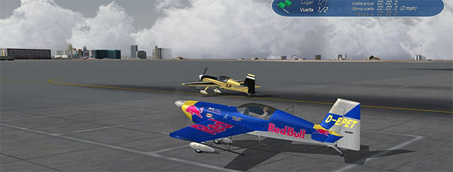 Red Bull racing aircraft.