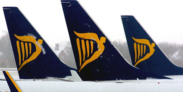 Ryanair tails
