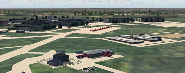 RAF Scampton Scenery for FSX