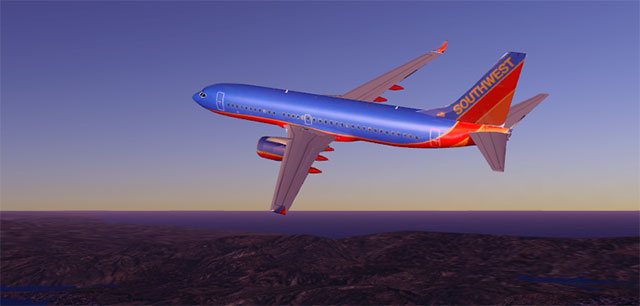 Southwest 737 in Infinite Flight
