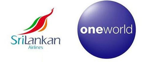 The SriLankan Airlines and Oneworld logos.
