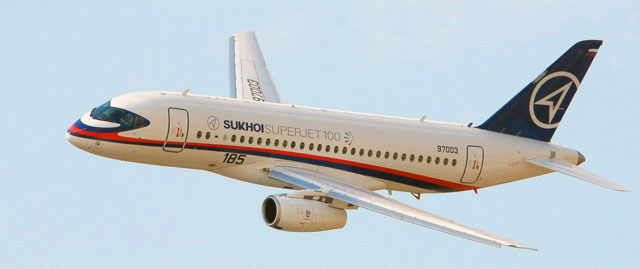 Sukhoi Superjet 100, the same aircraft that crashed.