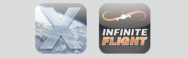 X-Plane and Infinite Flight iPhone/iOS app logos