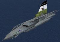 Screenshot of Tornado GR1 ZA395 in flight.
