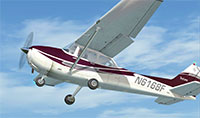 Cessna 172 taking off.