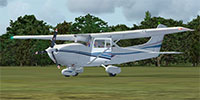 Cessna 182 Skylane on grass.