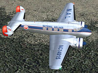 Screenshot of National Lockheed L-10 Electra in flight.