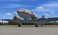 Screenshot of 1947 American Airways Flagship Tulsa on the ground.