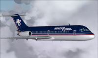 Screenshot of Midwest Express Airlines DC-9-10 in flight.
