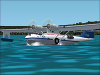 Screenshot of PBY-5A Catalina on the water.
