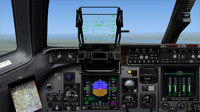 The 2D panel included for old-school simmers who prefer flying with a 2D panel.