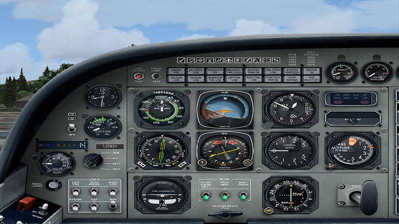 Cessna 208B panel.