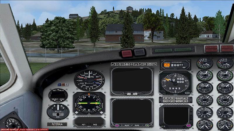 King Air 350 panel.