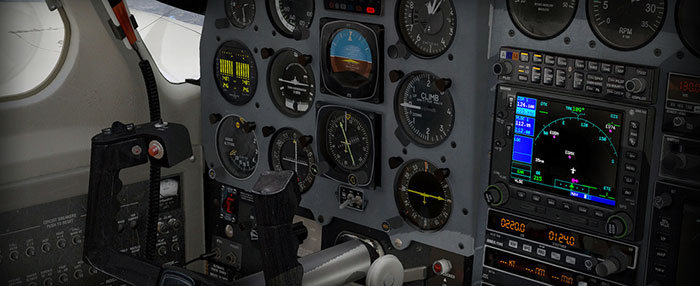 The Navajo's 3D Virtual Cockpit in X-Plane 10