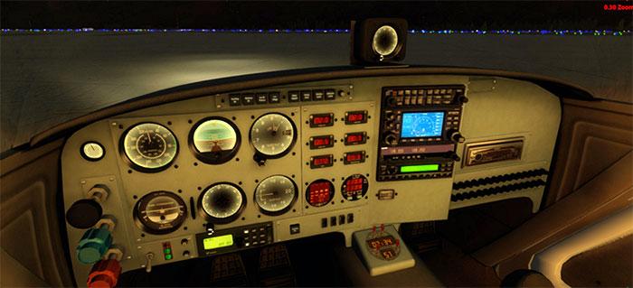 3D Virtual Cockpit at night