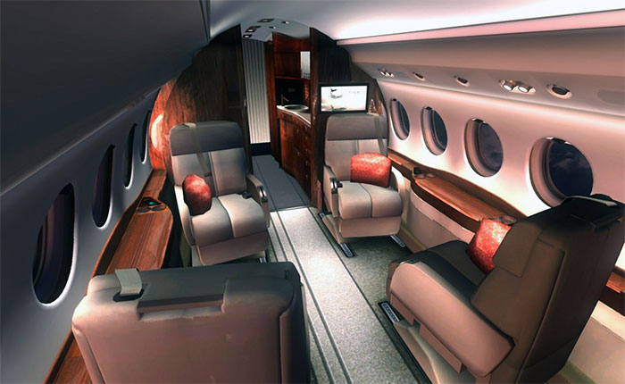Fully 3D passenger cabin area.