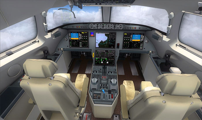 The stunning, highly detailed 3D virtual cockpit.