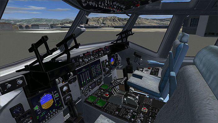 Image showing the 3D Virtual Cockpit in the Virtavia Globamaster III.