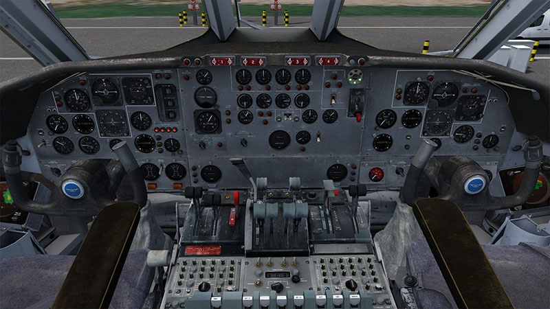 The VC10's 3D Virtual Cockpit.