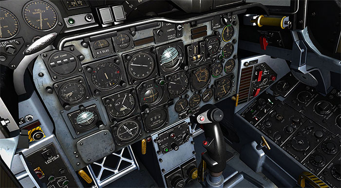 Detailed 3D virtual cockpit based on the original aircraft.