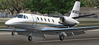 Cessna 56X on runway