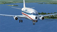 737-200 in flight.