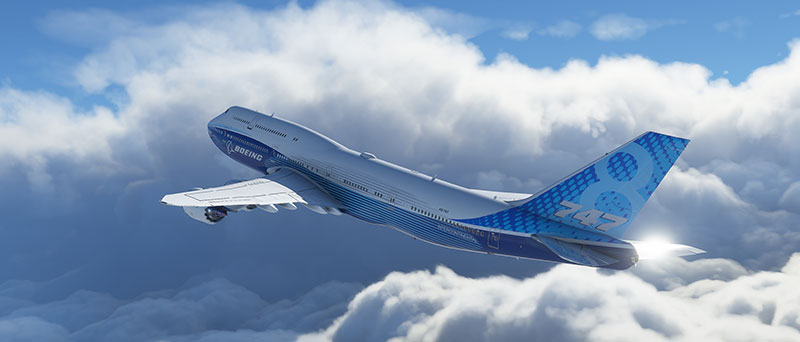 "Boeing 747-8 ""Queen of the Skies"" in Microsoft's new flight simulator set for release in 2020."