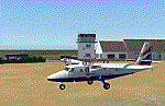 Small plane on the ground in Scotland.