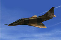 Screenshot of A-4E Topgun Viper in flight.