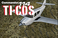 Thumbnail of AC 114 Commander TI-COS in the air.