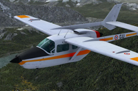 Screenshot of AEAC Cessna C337 Skymaster F-ZAGU in flight.