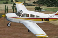 Screenshot of AENSA Piper Archer II in flight.