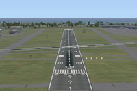 View of Hollywood International Airport runway.
