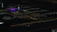 Screenshot of Los Angeles International Airport at night.