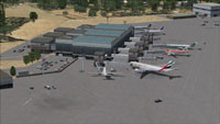 Aerial view of Tessera International Airport, Venice.