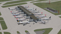 Screenshot of Zurich International Airport, Switzerland.