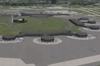 Aerial view of Newark Liberty International Airport.