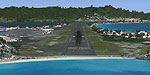 Aerial view of Princess Juliana International Airport.