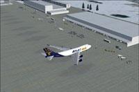 Screenshot of Frankfurt Hahn Airport scenery.