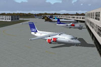 Screenshot of Kastrup Airport scenery.