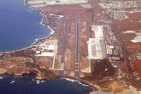 Aerial view of Gran Canaria Airport.