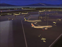 Screenshot of Chek Lap Kok Airport scenery.