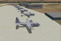 Screenshot of planes on the ground at Davis-Monthan Air Force Base.