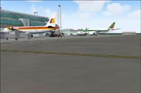 Screenshot of Fiumicino Airport scenery.