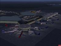 Aerial view of Tokyo Narita Airport.