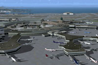 Aerial view of San Francisco Int''l Airport.