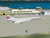 Screenshot of Princess Juliana Airport scenery.
