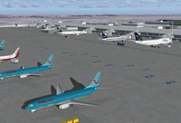 Screenshot of a German Airport.