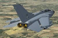 Screenshot of AI MAIW Italian AF Tornado in flight.