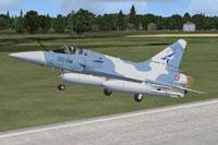 Screenshot of AI MAIW Mirage 2000 taking off.